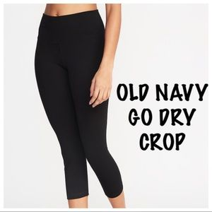 OLD NAVY HIGH RISE GO DRY YOGA CROP